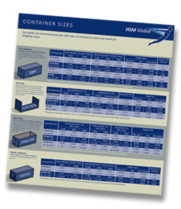 Container Sizes - Dry container, Flat Rack, Open top, Reefer